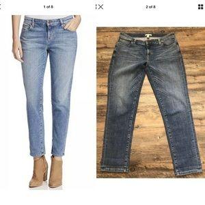 Eileen Fisher Ankle Crop boyfriend blue jeans 8p